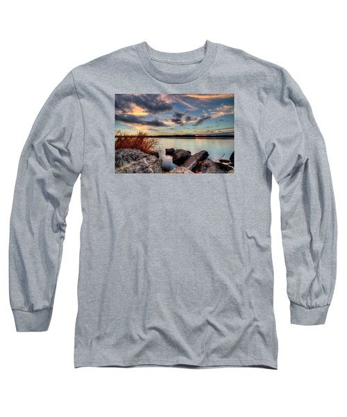 Ohio Fall Sunset Long Sleeve T-Shirt