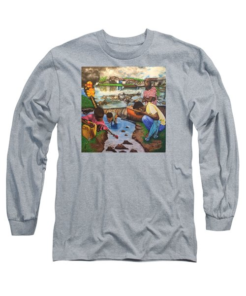 Oil- Africans' Wealth And Woe Long Sleeve T-Shirt