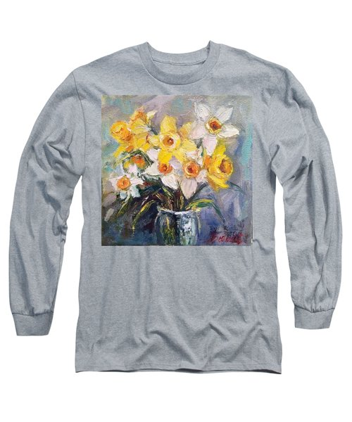 Ok Finished! #springflowers #daffodils Long Sleeve T-Shirt