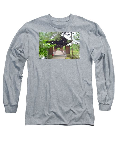 Long Sleeve T-Shirt featuring the digital art Okazaki Park And Heian Shrine by Eva Kaufman