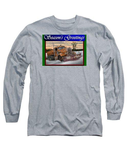 Ol' Pete Snowplow Christmas Card Long Sleeve T-Shirt