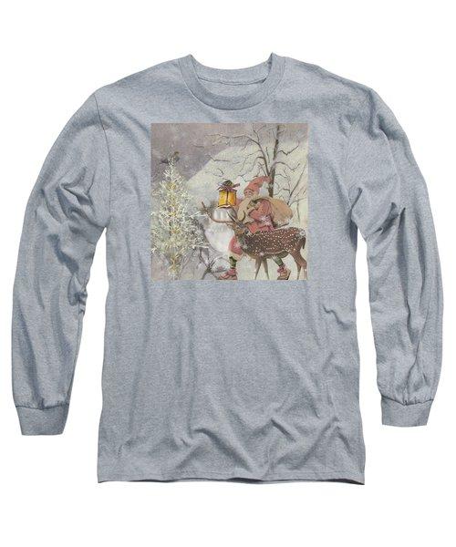 Ol' Saint Nick Long Sleeve T-Shirt by Diana Boyd
