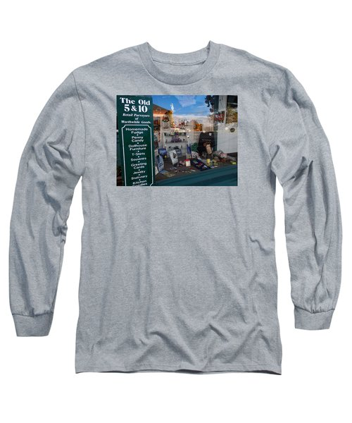 Long Sleeve T-Shirt featuring the photograph Old 5 And 10 North Conway by Nancy De Flon