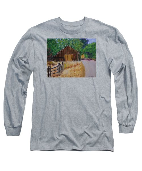 Old Barn Sonoma County Long Sleeve T-Shirt by Mike Caitham