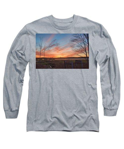 Old Bog Sunset Long Sleeve T-Shirt