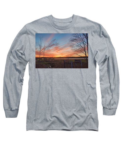 Old Bog Sunset Long Sleeve T-Shirt