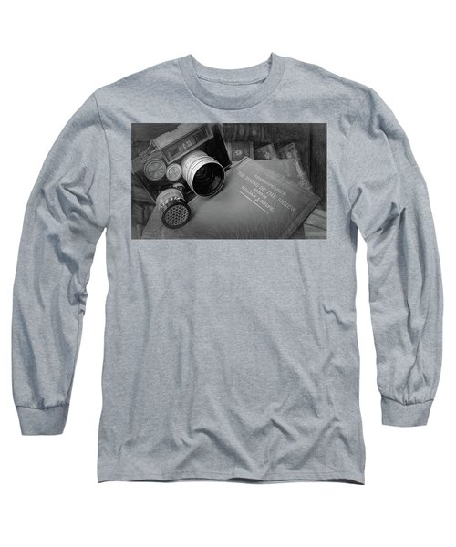 Old Books And Cameras Long Sleeve T-Shirt
