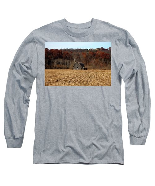 Old Country Barn In Autumn #1 Long Sleeve T-Shirt by Jeff Severson