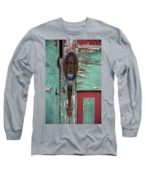 Old Door Knob 2 Long Sleeve T-Shirt by Joanne Coyle