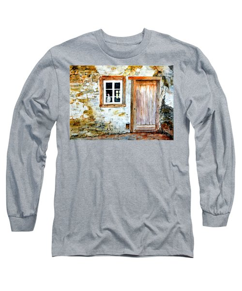 Old Farm House Long Sleeve T-Shirt by Sher Nasser