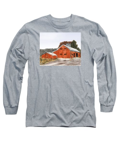 Old Farm In The Country Long Sleeve T-Shirt by R Kyllo