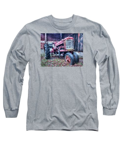 Old Farm Tractor Long Sleeve T-Shirt