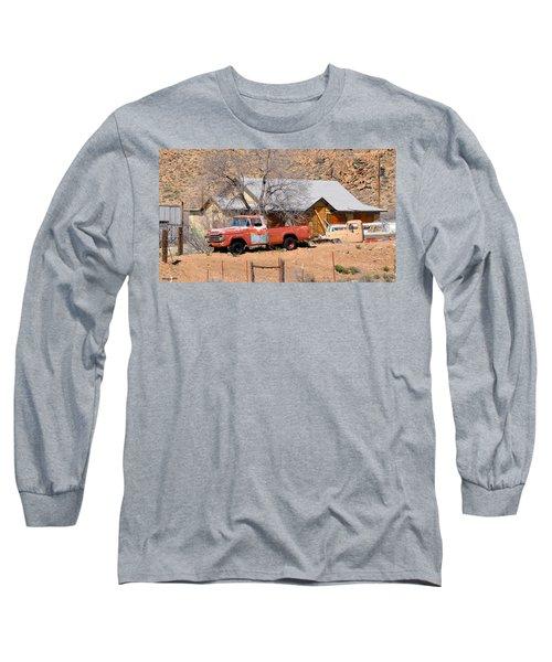 Old Farm Trucks Along Route 66 Long Sleeve T-Shirt