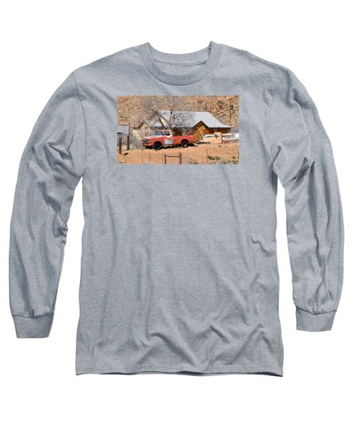 Old Farm Trucks Along Route 66 Long Sleeve T-Shirt