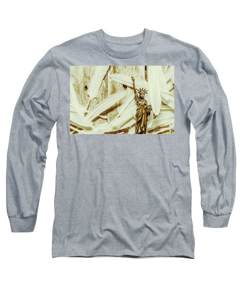 Old-fashioned Statue Of Liberty Monument Long Sleeve T-Shirt