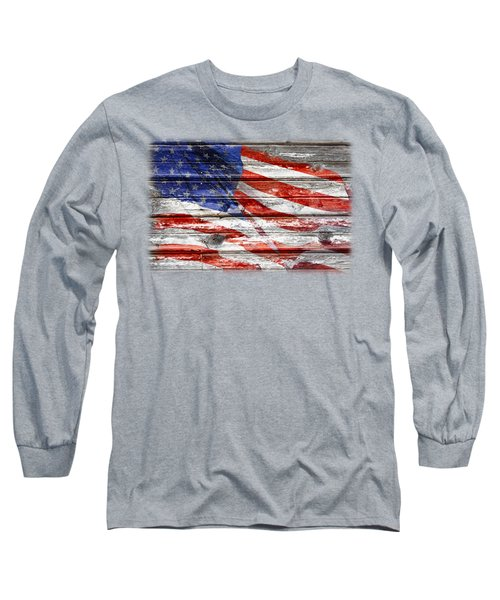 Old Glory Long Sleeve T-Shirt by Phyllis Denton