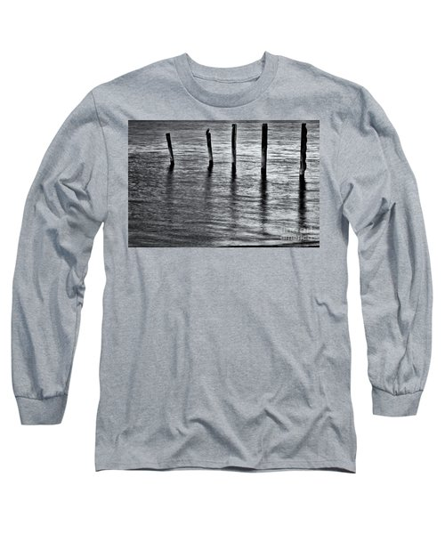 Long Sleeve T-Shirt featuring the photograph Old Jetty - S by Werner Padarin