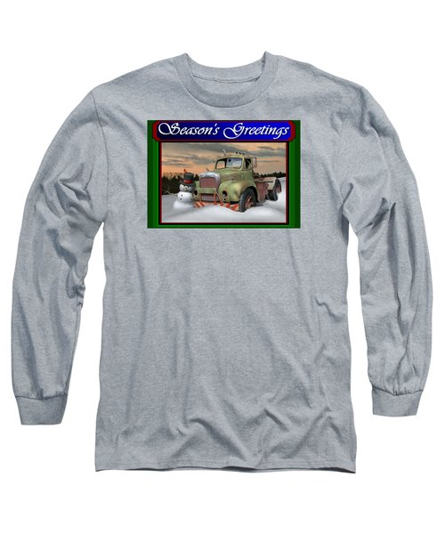 Old Mack Christmas Card Long Sleeve T-Shirt by Stuart Swartz