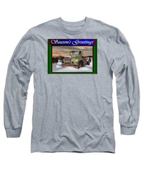 Old Mack Christmas Card Long Sleeve T-Shirt