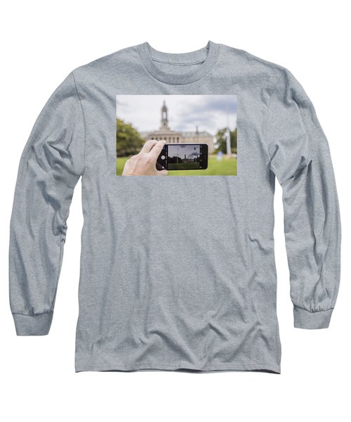 Old Main Through Iphone  Long Sleeve T-Shirt by John McGraw