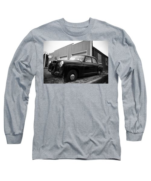 Long Sleeve T-Shirt featuring the photograph Old Mercedes Sitting At The Shop by Janice Adomeit