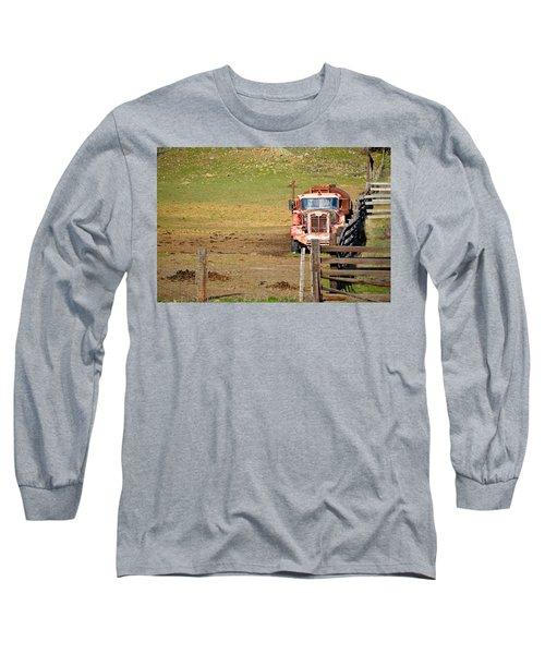 Old Pump Truck Long Sleeve T-Shirt