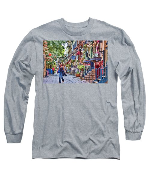 Old Quebec City Long Sleeve T-Shirt