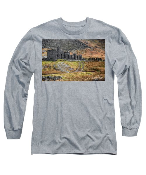 Long Sleeve T-Shirt featuring the photograph Old Ruin At Cwmorthin by Adrian Evans