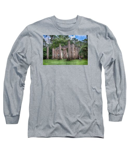 Long Sleeve T-Shirt featuring the photograph Old Sheldon Church by Patricia Schaefer