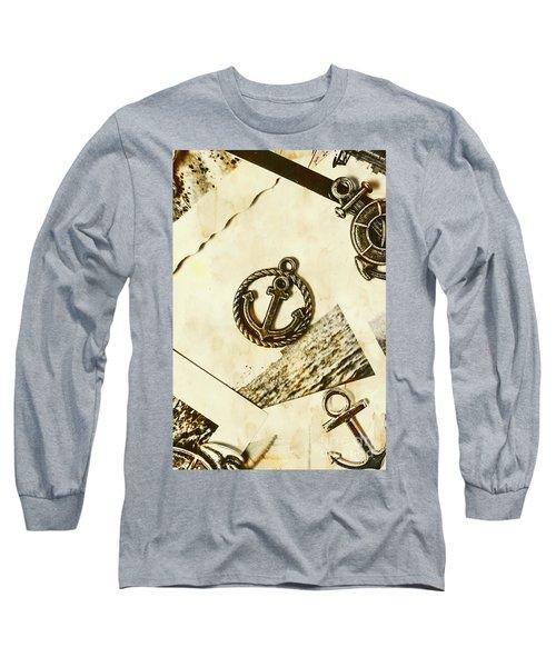 Old Shipping Emblem Long Sleeve T-Shirt