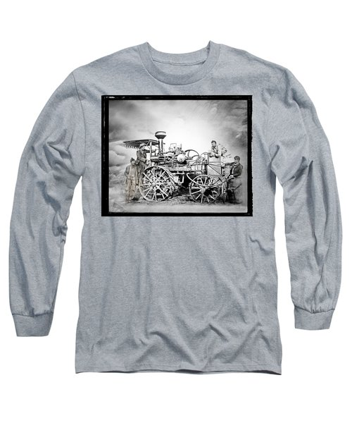 Old Steam Tractor Long Sleeve T-Shirt by Mark Allen