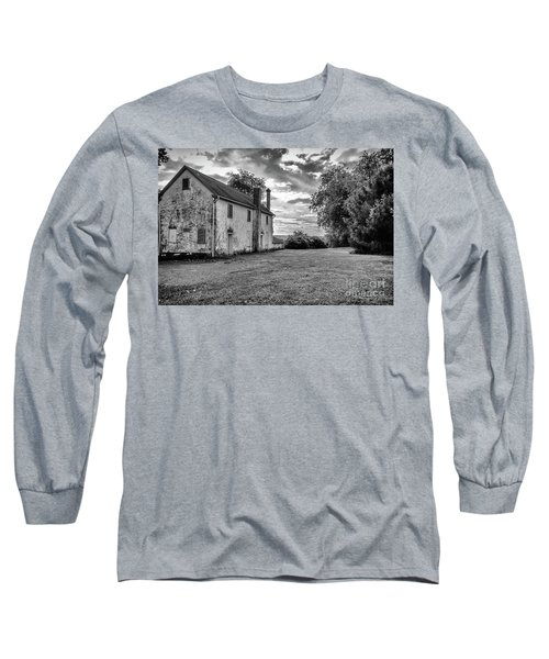 Old Stone House Black And White Long Sleeve T-Shirt