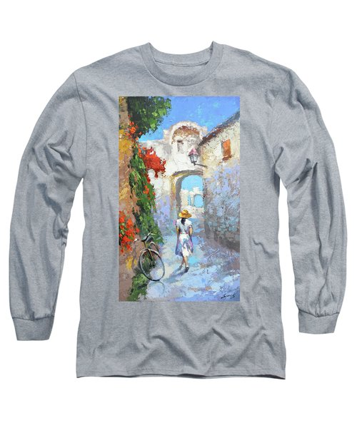 Old Street  Long Sleeve T-Shirt by Dmitry Spiros