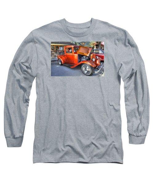 Old Timer Orange Truck Long Sleeve T-Shirt