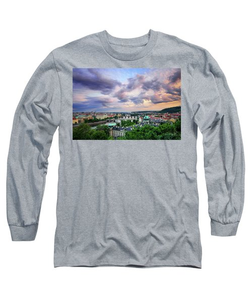 Old Town And Charles Bridge, Prague, Czech Republic Long Sleeve T-Shirt