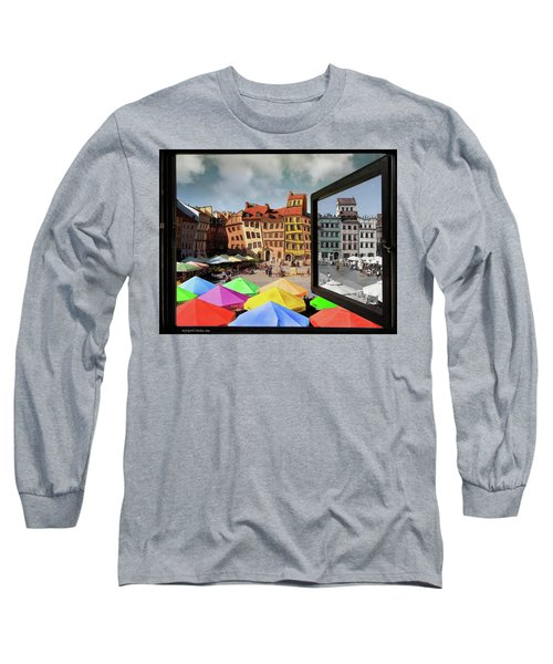 Old Town In Warsaw #13a Long Sleeve T-Shirt
