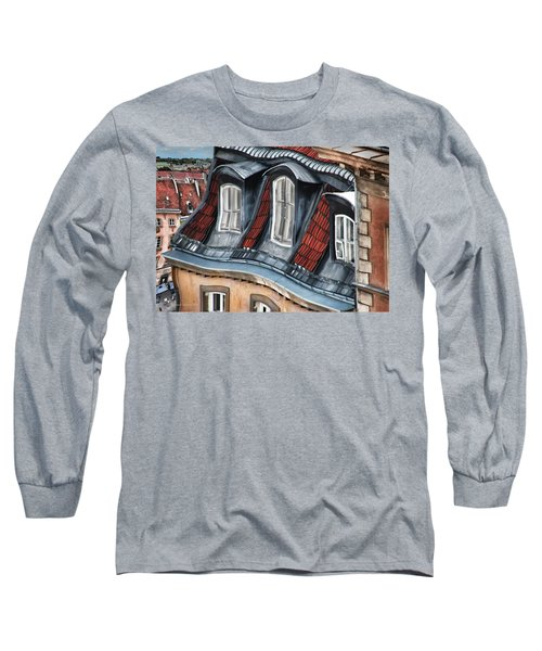 Old Town In Warsaw #19 Long Sleeve T-Shirt