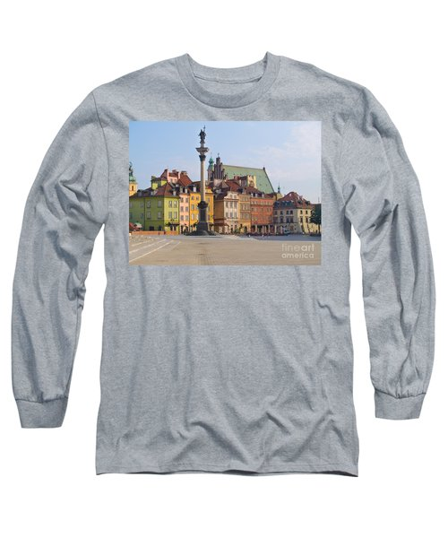 Old Town Square Zamkowy Plac In Warsaw Long Sleeve T-Shirt by Anastasy Yarmolovich