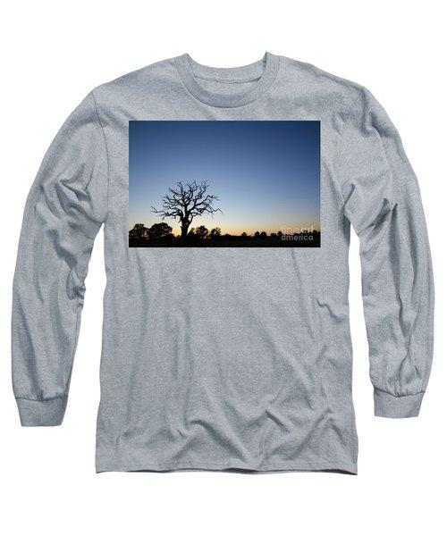 Old Tree Silhouette Long Sleeve T-Shirt by Kennerth and Birgitta Kullman