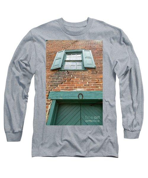 Old Warehouse Window And Lucky Door Long Sleeve T-Shirt
