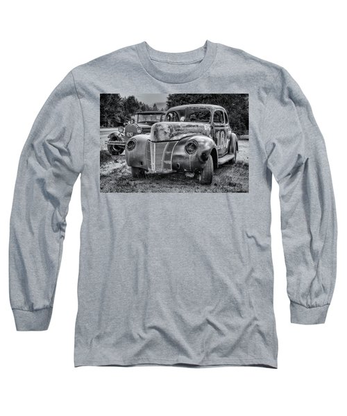 Old Warrior - 1940 Ford Race Car Long Sleeve T-Shirt by Ken Morris