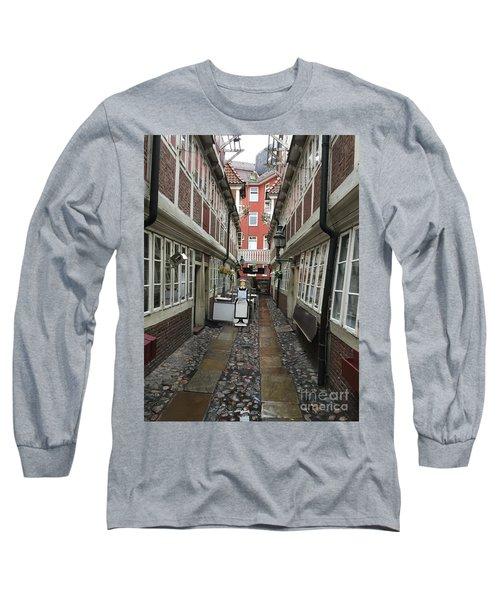 Krameramtsstuben The Oldest Street In Hamburg Germany Long Sleeve T-Shirt