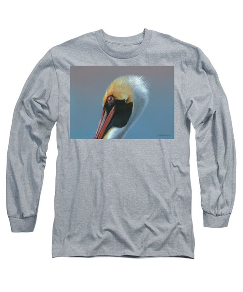 Long Sleeve T-Shirt featuring the painting Ole Blue Eyes by Mike Brown