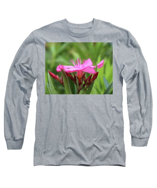 Long Sleeve T-Shirt featuring the photograph Oleander Professor Parlatore 1 by Wilhelm Hufnagl