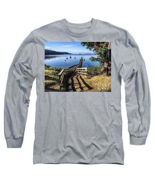 Long Sleeve T-Shirt featuring the photograph Olga Pier by William Wyckoff
