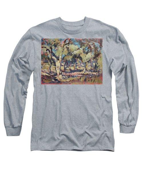 Olive Grove Along Marmari Beach Paxos Long Sleeve T-Shirt
