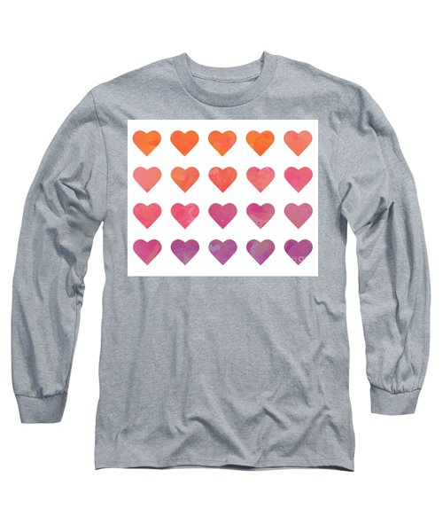 Ombre Hearts Long Sleeve T-Shirt