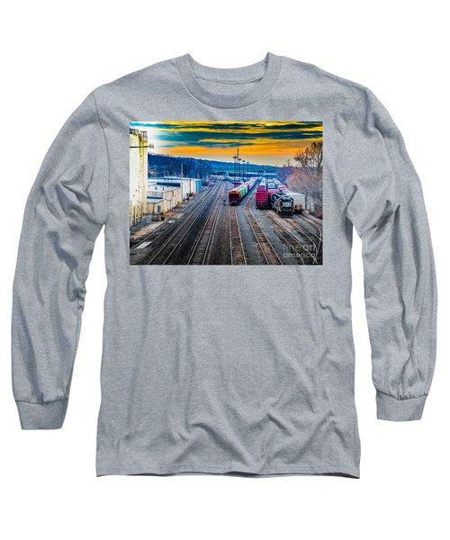 On A Suffern Railroad Track Long Sleeve T-Shirt