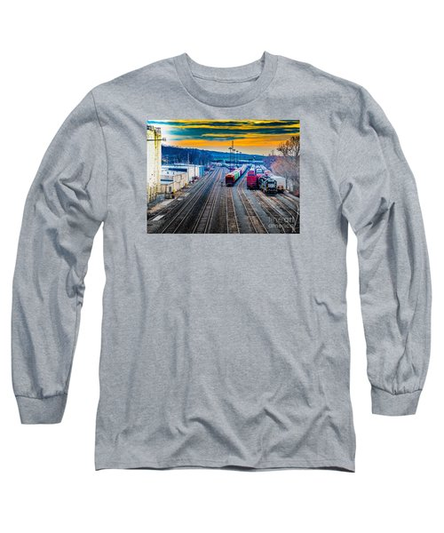On A Suffern Railroad Track Long Sleeve T-Shirt