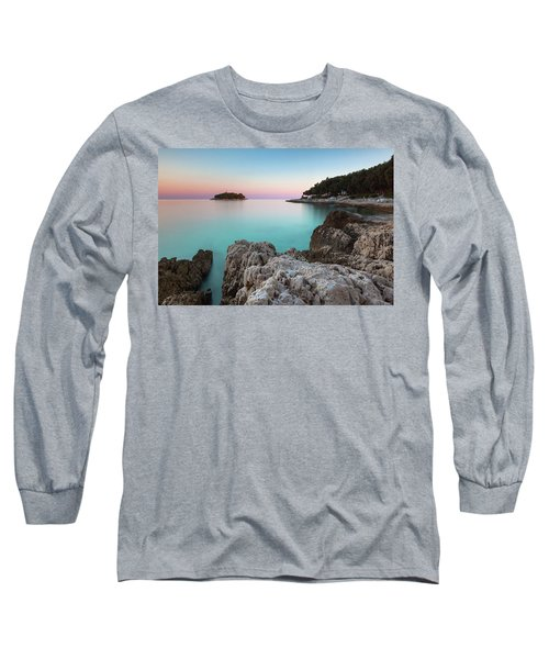 Long Sleeve T-Shirt featuring the photograph On The Beach In Dawn by Davor Zerjav